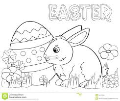 bunny coloring easter pages print