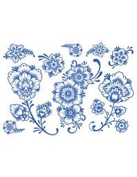 delft floral ornaments 02 tattooednow ltd