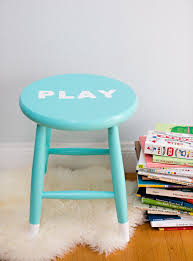 childrens table and stools easy diy painted children s stool with stenciled letters