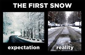 Snow Memes - the first snow expectation vs reality know your meme