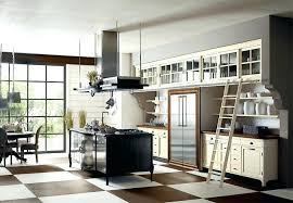 Kitchen Designer Los Angeles European Kitchen Design With Stainless Steel Kitchen Ladder And
