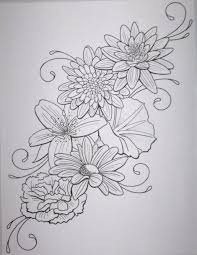 flower outline tattoo google search tatto inspiration