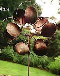 Garden Spinners And Decor Garden Wind Spinner Metal Kinetic Windmill Outdoor Lawn Yard Decor