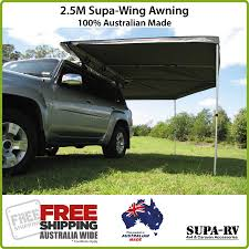 Wing Awning 2 5m Supa Peg Supa Wing 4x4 Vehicle Awning 4wd Camper Car Ute