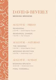 Destination Wedding Itinerary Wedding Itinerary Beach Wedding Itinerary Template Wedding
