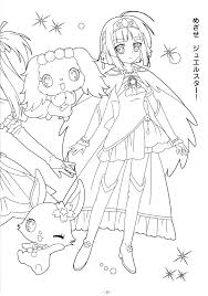 coloring book jewelpet