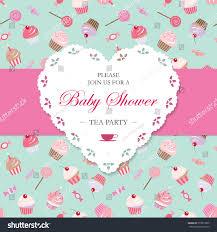 Tea Party Invitation Card Elegant Template Lacy Cutout Heart Tea Stock Vector 513819295