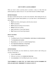 how to write a good summary for a resume download good summary