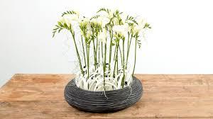Flower Arrangement Techniques by Black U0026 White Freesia Design Flower Factor How To Flower