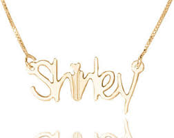 14kt Gold Name Necklace Gold Name Plate Etsy