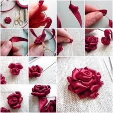 silk ribbon roses wonderful diy pretty silk ribbon