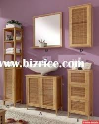 Bamboo Shelves Bathroom Bamboo Bathroom Furniture Foter