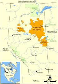 Map Of Edmonton Canada by Athabasca Oil Sands Wikipedia