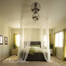 Sheer Bed Canopy Olive And Ceiling Mounted Bed Canopy