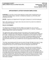 25 appointment letter format templates free pdf word docs