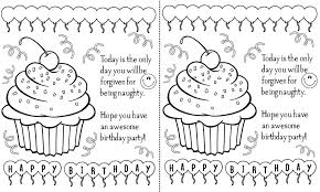 printable birthday cards that you can color printable birthday cards mom funny kids coloring printable birthday