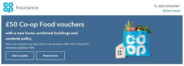 co operative home insurance homepage