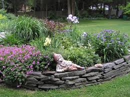 Lawn And Garden Decor Decor Lawn Landscape Edging Ideas With Stone And Statue For