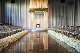jennifer and david u0027s wedding featured amazing aisle lined with