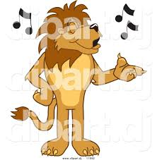 vector of a cartoon lion singing by toons4biz 11692