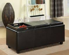 Simpli Home Avalon Storage Ottoman Home Life Leather Espresso Tray Top Storage Ottoman Furniture