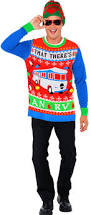 party city halloween plates men u0027s ugly christmas sweater costume accessories party city