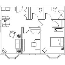 2 bedroom floor plans assisted living in mecosta michigan retirement living
