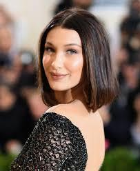 bella hadid cut her hair into a bob allure