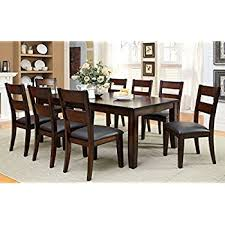 9 dining room set amazon com roundhill furniture karven 9 solid wood dining