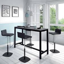 tables hautes cuisine table haute de cuisine hauteur 110 cm en stratifié et métal 160 x 60