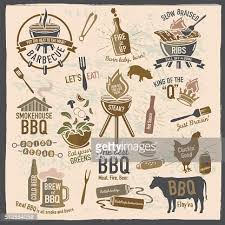 themed sayings set of bbq themed icons labels with phrases or sayings vector