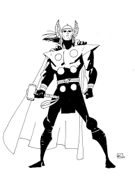 thor coloring pages easy eliolera com