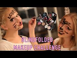 makeup school orlando blindfolded makeup challenge ft jordyn jones