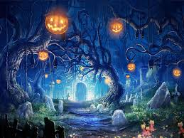 blue halloween background hd halloween backgrounds wallpapers backgrounds