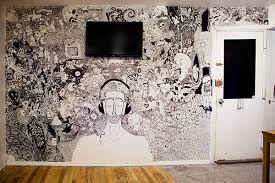 living room mural here s a living room mural drawn with sharpies the absolute