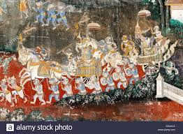 Wall Scenes by Wall Painting Also Known As Ramayana Fresco With Scenes From The