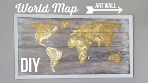 Map Art Diy World Map Art Wall Cuadro Del Mapamundi Youtube
