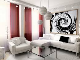 put awesome red curtain to beautify your living room interior