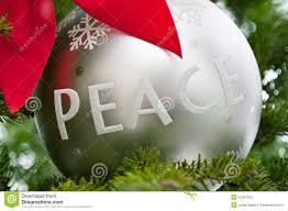 peace ornament on a tree stock photo image 22367924