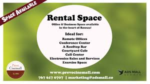 forrent spaces for rent prevo cinemall