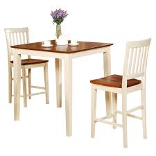 wood counter height table three posts givens 3 piece counter height wood bistro set reviews