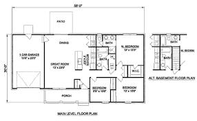 2 bedroom basement floor plans ranch style house plan 3 beds 2 00 baths 1200 sq ft plan 116 248