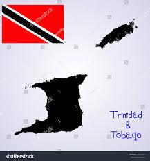 Flag For Trinidad And Tobago Republic Trinidad Tobago Vector Map Vector Stock Vector 198655247