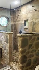 Bathroom Shower Floor Ideas Exquisite Bathroom Best 25 River Rock Shower Ideas On Pinterest At