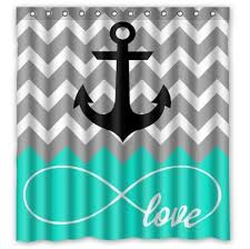 Nautical Anchor Shower Curtain 129 Best Beach Shower Curtains Images On Pinterest Beach Shower