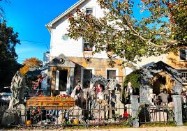 Decorated Homes For Halloween Bergen County New Jersey Halloween Houses