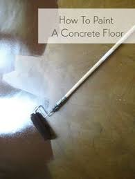 Painted Concrete Basement Floor by How To Paint Concrete Updated Plus My Secret Cleaning Tip