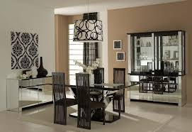contemporary formal dining room drum black stainless steel floor