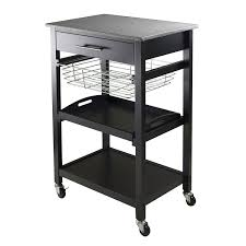 typical kitchen island dimensions amazon com winsome julia utility cart bar u0026 serving carts