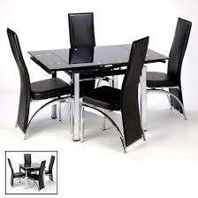 Black Extending Dining Table And Chairs Black Glass Extending Dining Table Alluring Decor M Glass